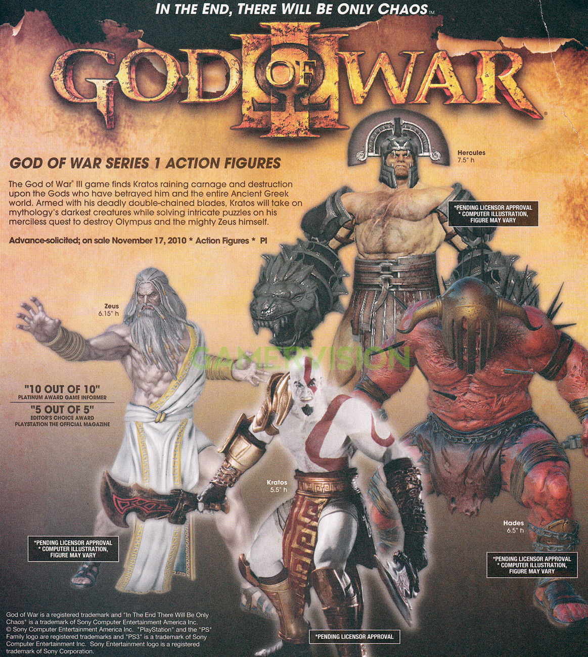First Images Of DC Direct God of War 3 Figures - The Toyark
