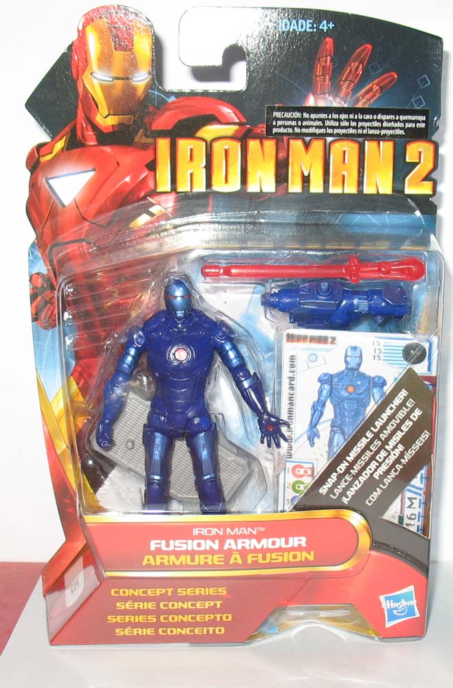 "MARVEL IRON MAN 2 Fusion Armour 3.75/"" Action Figure"