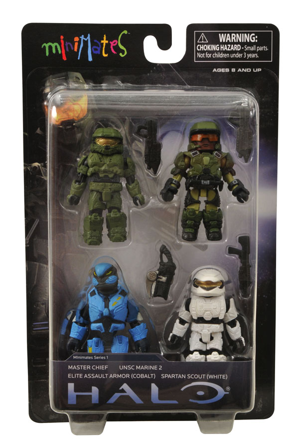 Cobalt Halo Minimates Series 1 Elite Assault Armor