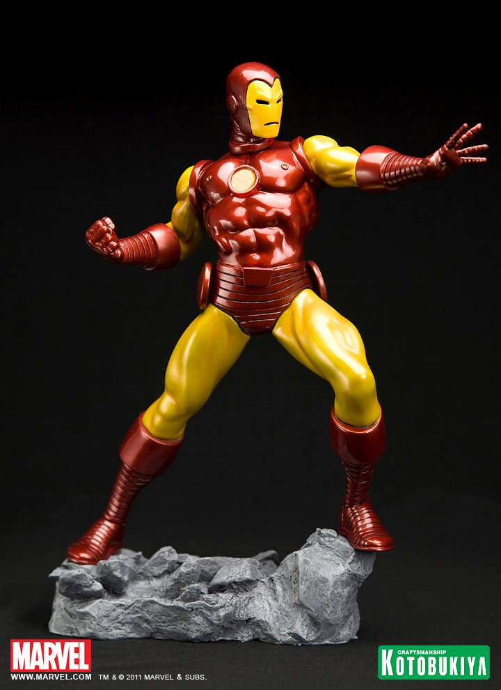 Kotobukiya Iron Man Classic Avengers Fine Art Statue The Toyark News