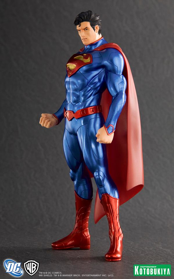 new 52 superman statue from kotobukiya the toyark news