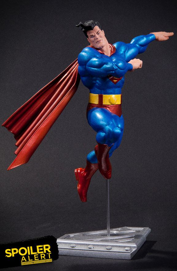dc collectibles reveals frank miller superman statue the