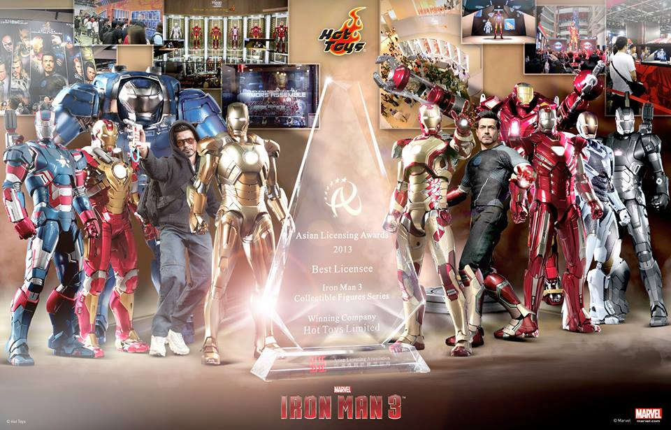 Hot Toys Wins Licensee Award For Iron Man 3 Collectibles The