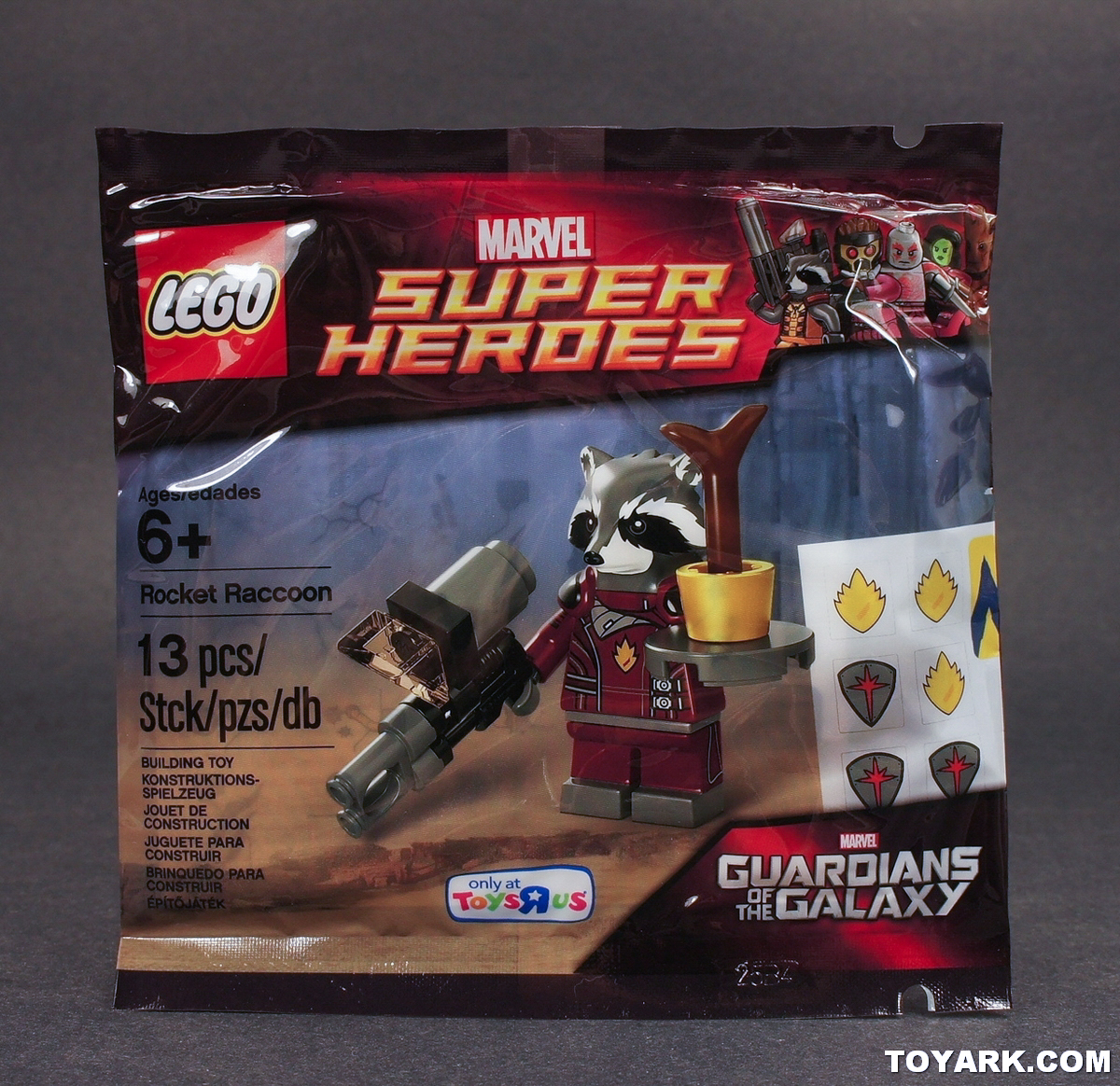 Marvel Toys R Us : Lego marvel super heroes rocket raccoon tru exclusive poly