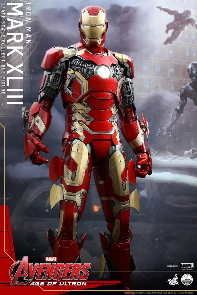 Hot Toys 1 4 Scale Iron Man Mark 43 Avengers Age Of