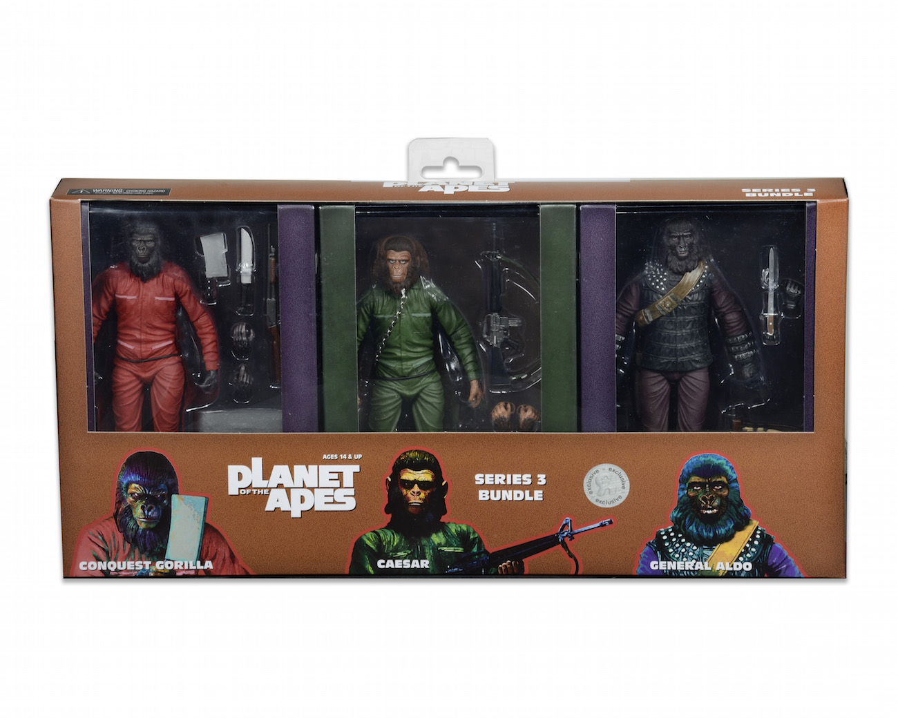 Planet of the Apes NECA Figurine Tribute Cards Complete Set