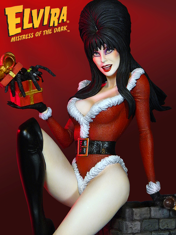 Get Your Name On The Naughty List With This Elvira Statue