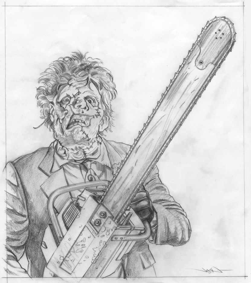 Texas Chainsaw Massacre 2 Leatherface Packaging Art