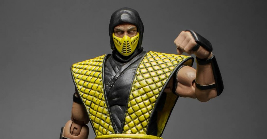 classic scorpion mortal kombat mask
