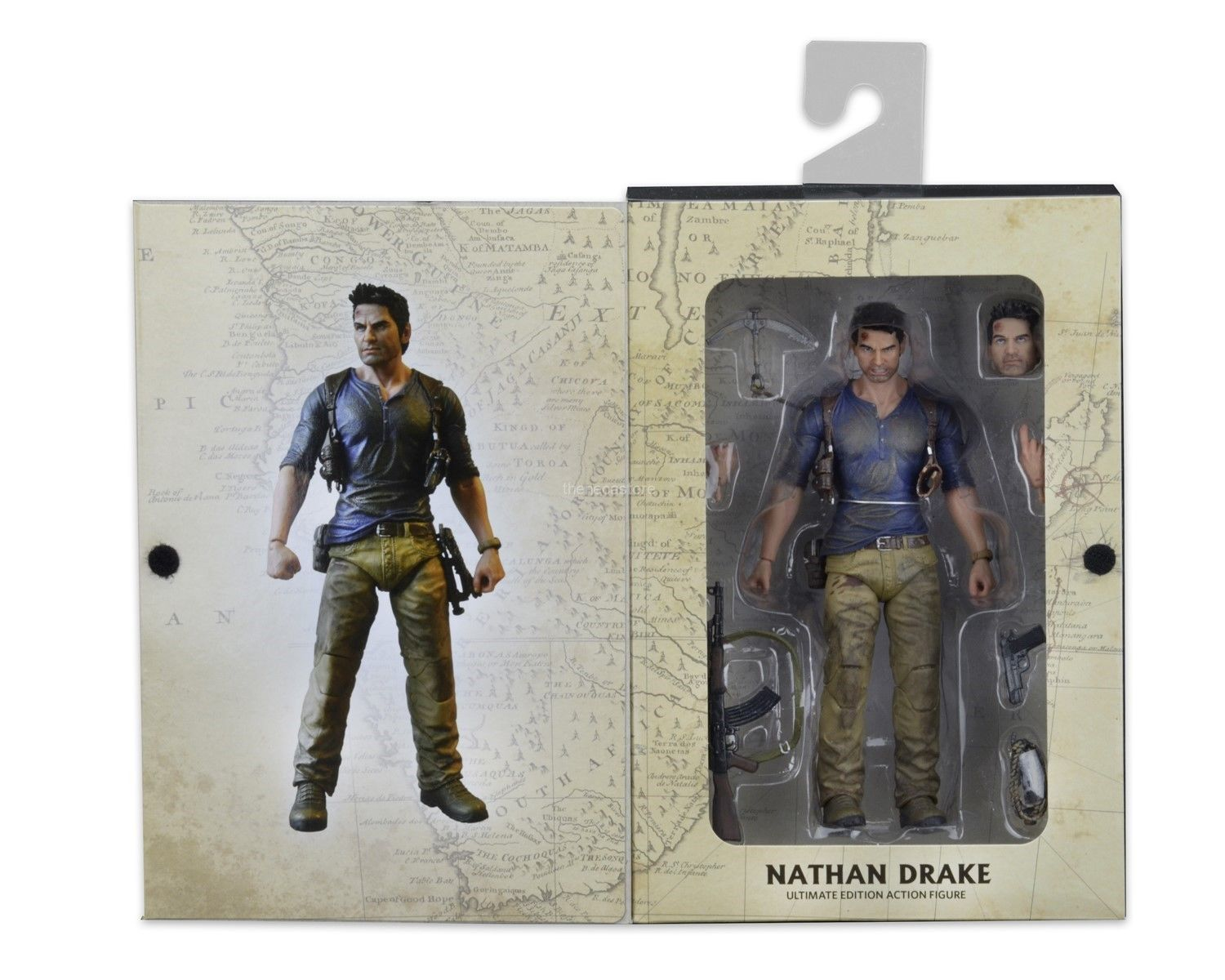 """New Nathan Drake Uncharted 4 Action Figure Ultimate 7/"""" ReelToys Collector"""