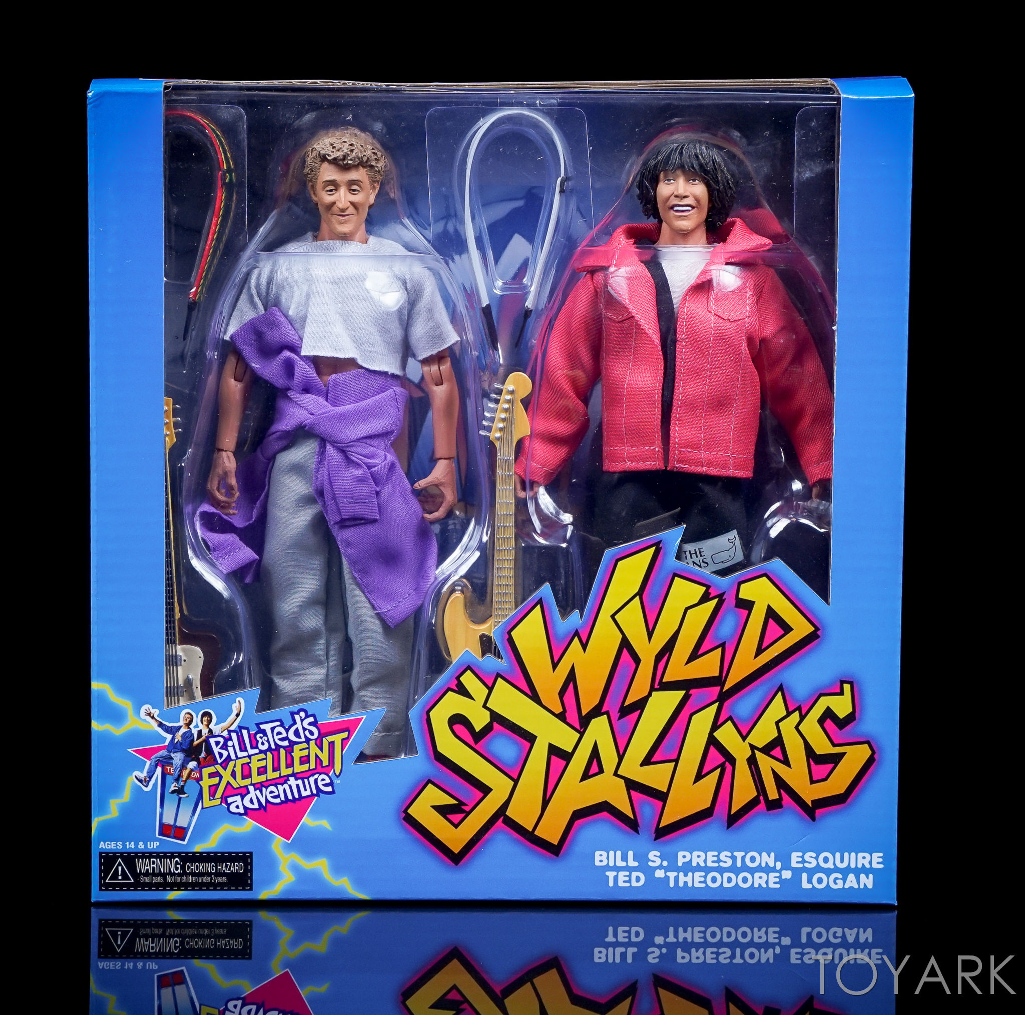 "Bill /& Ted 2 Pack NECA 8"" Clothed Figure Bill /& Ted's Excellent Adventure"