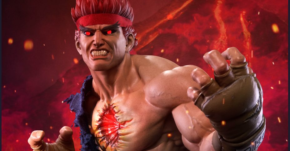 Updated Details For The Street Fighter Iv Evil Ryu Statue By