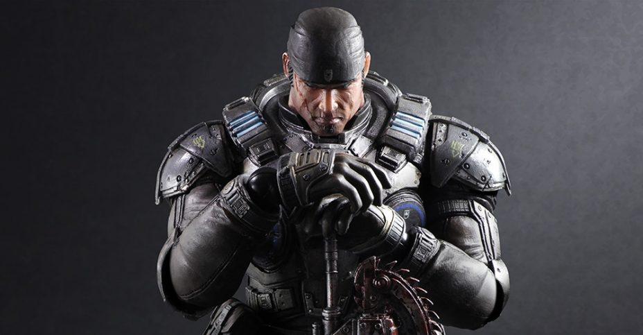 Play Arts Kai Gears Of War Marcus Fenix Figure The Toyark