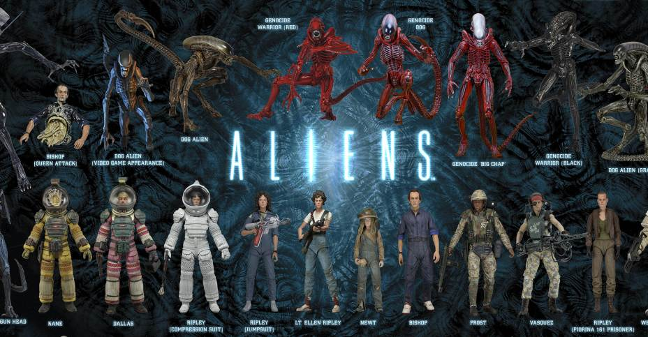 Neca Aliens Figures Visual Guides 12 Days Of Downloads