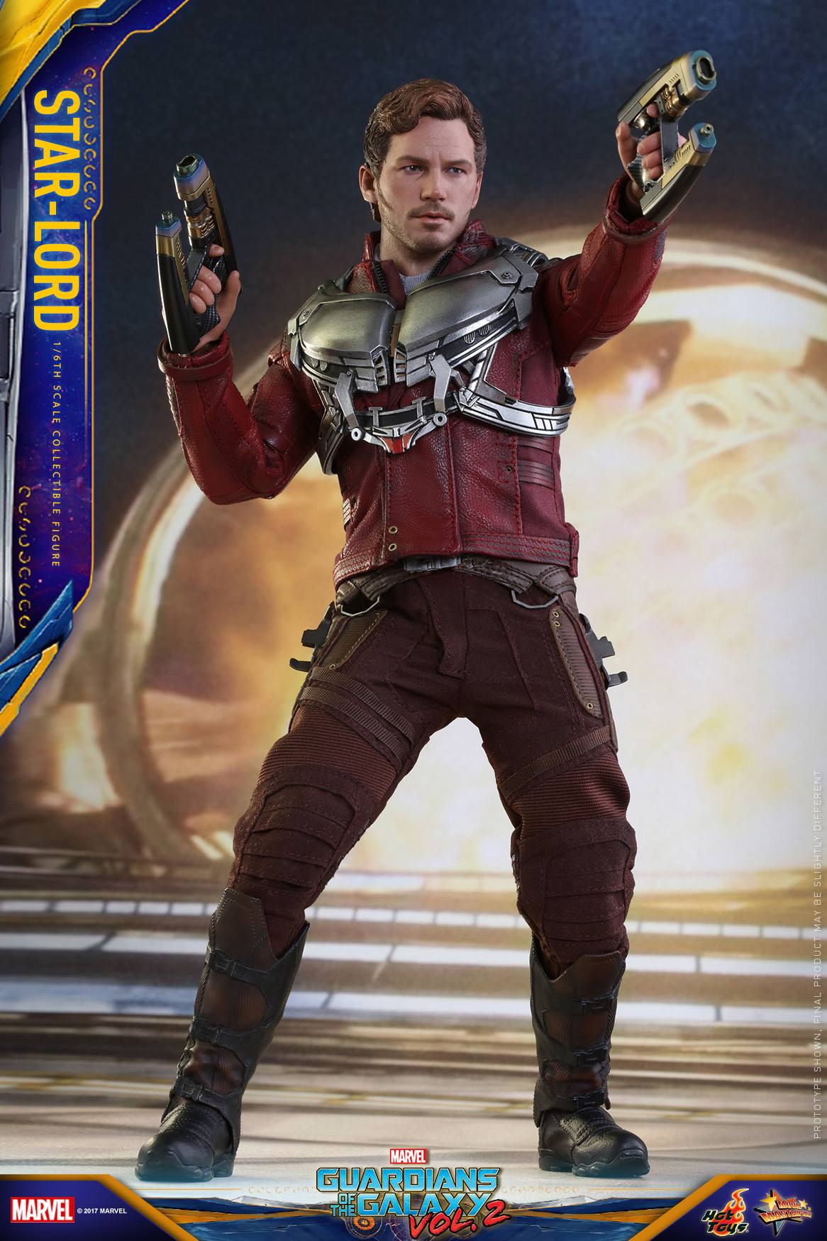 guardians of the galaxy vol 2 starlord by hot toys