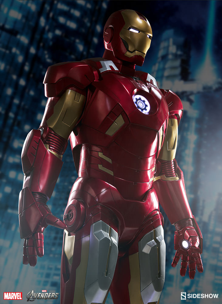 details for the sideshow life size iron man mark vii armor the toyark news