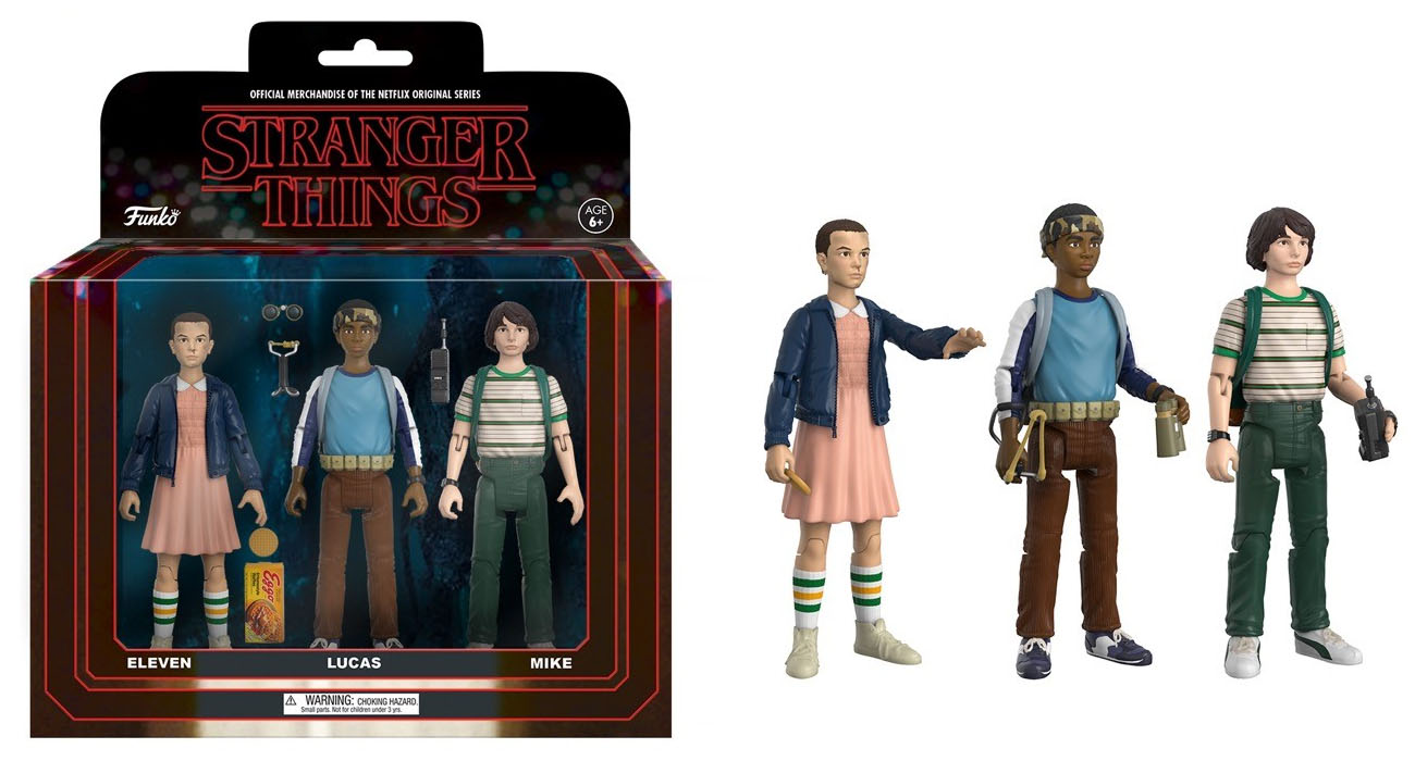 Stranger Things Set of Two 3 Packs Funko