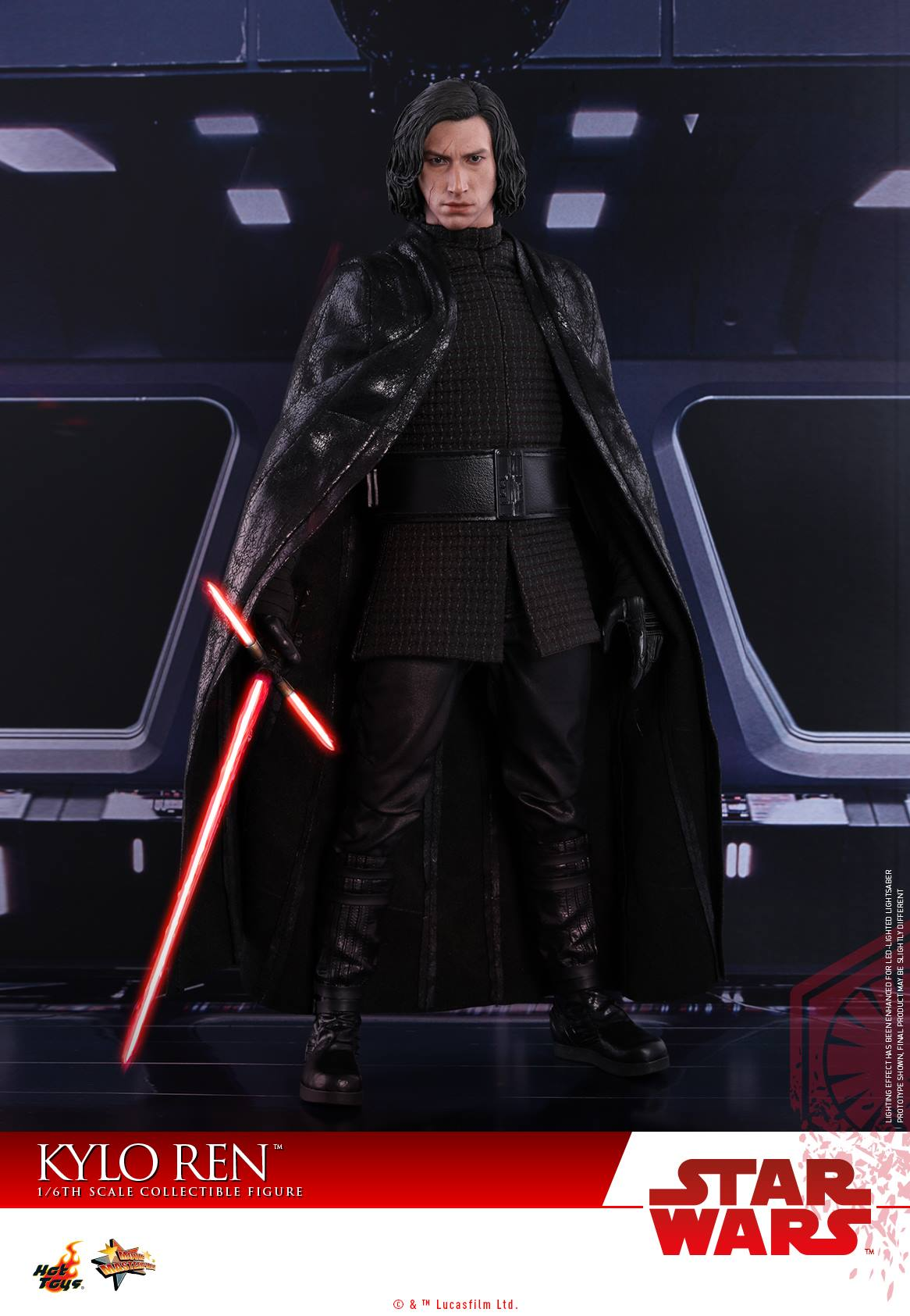 Hot Toys Star Wars TLJ Kylo Ren MMS438 Black Tunic loose 1//6th scale