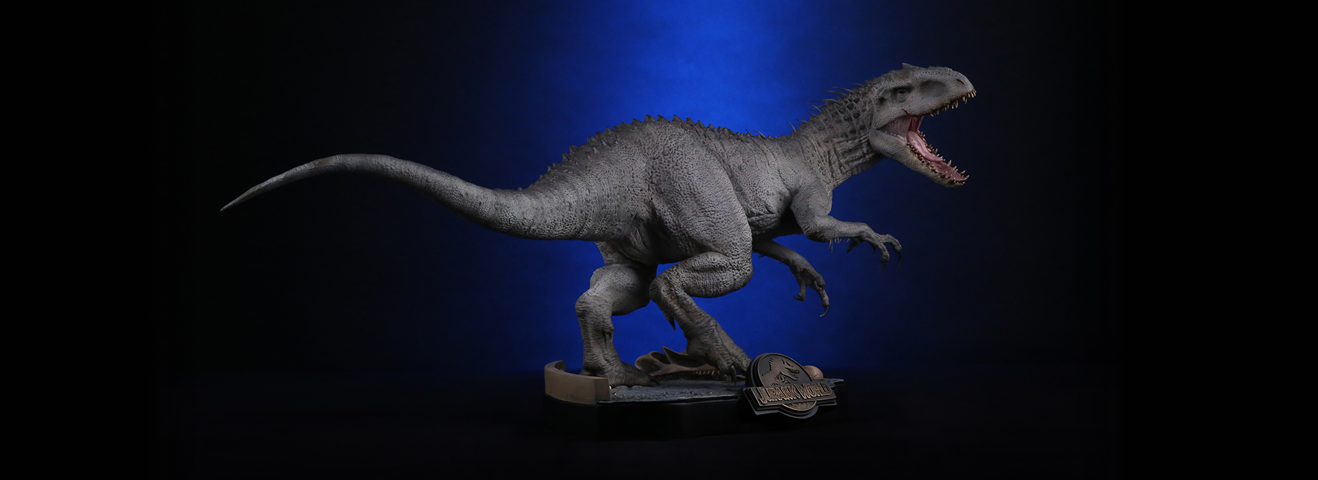 jurassic world indominous rex 1 24 scale statue pre orders live the toyark news. Black Bedroom Furniture Sets. Home Design Ideas