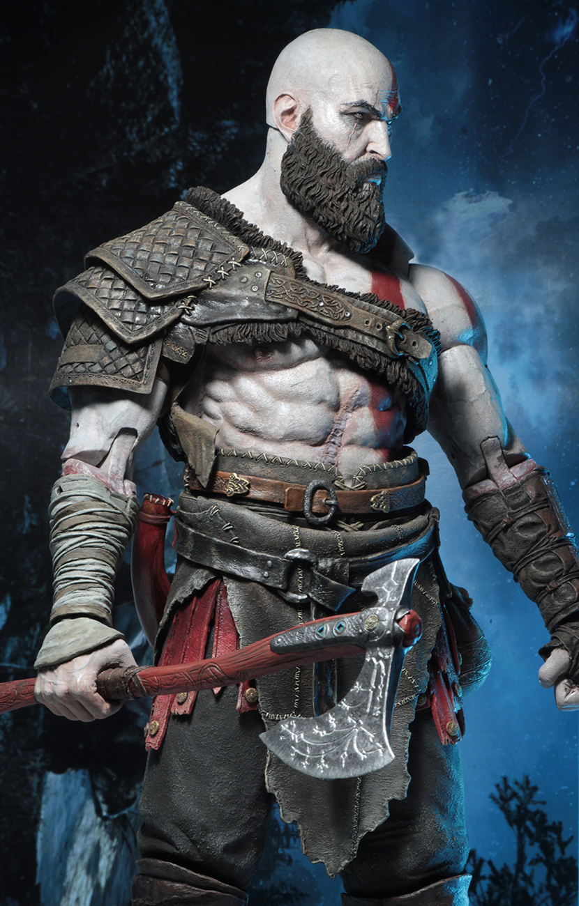 Details on the God of War 4 - Kratos 1/4 Scale Figure by NECA - The