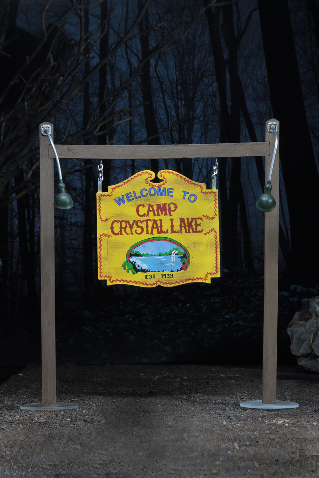 Custom 1//6 Scale Camp Blood Crystal Lake Sign Friday The 13th Jason Voorhees