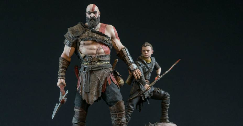 New God Of War 4 Kratos And Atreus Statue By Sony The