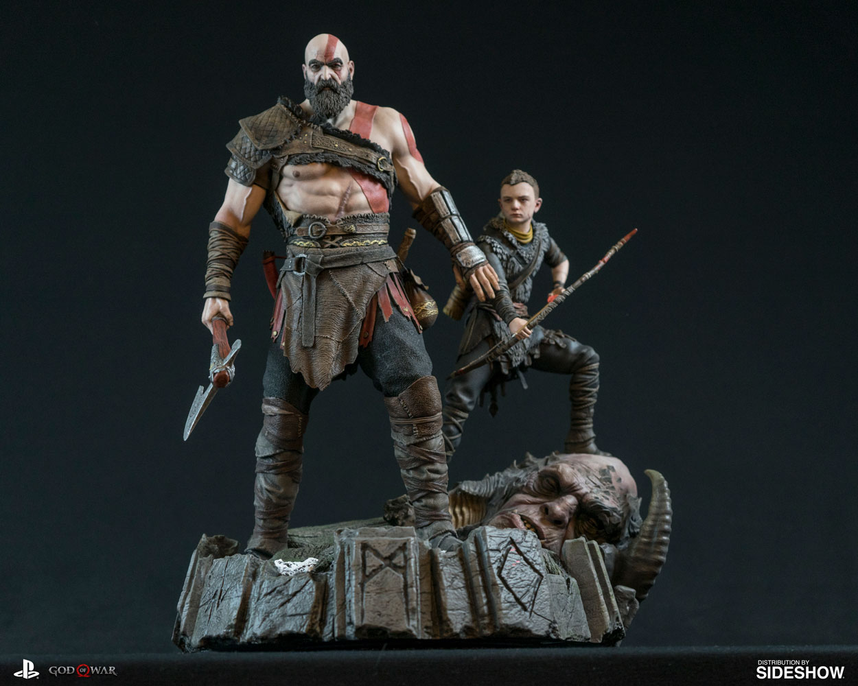 New God of War 4 Kratos and Atreus Statue by Sony - The Toyark - News
