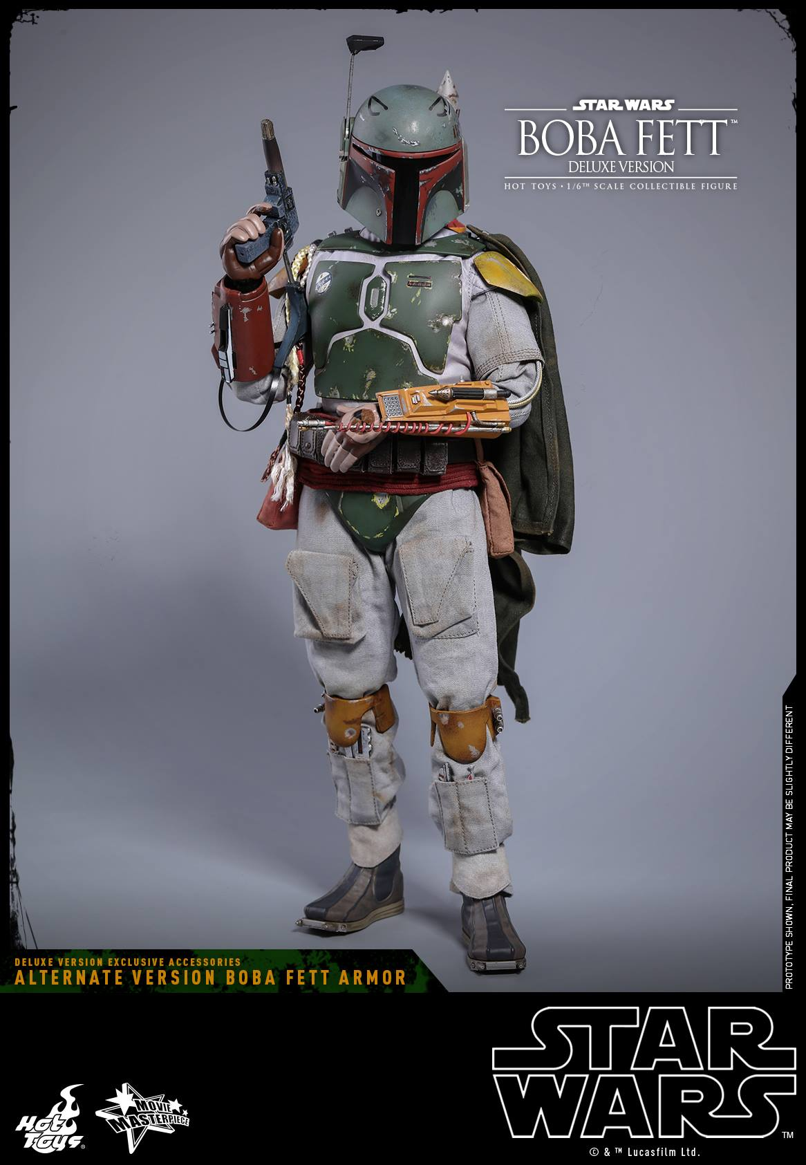 Hot Toys Star Wars ESB Boba Fett DELUXE MMS464 Jet Pack 1 loose 1//6th scale