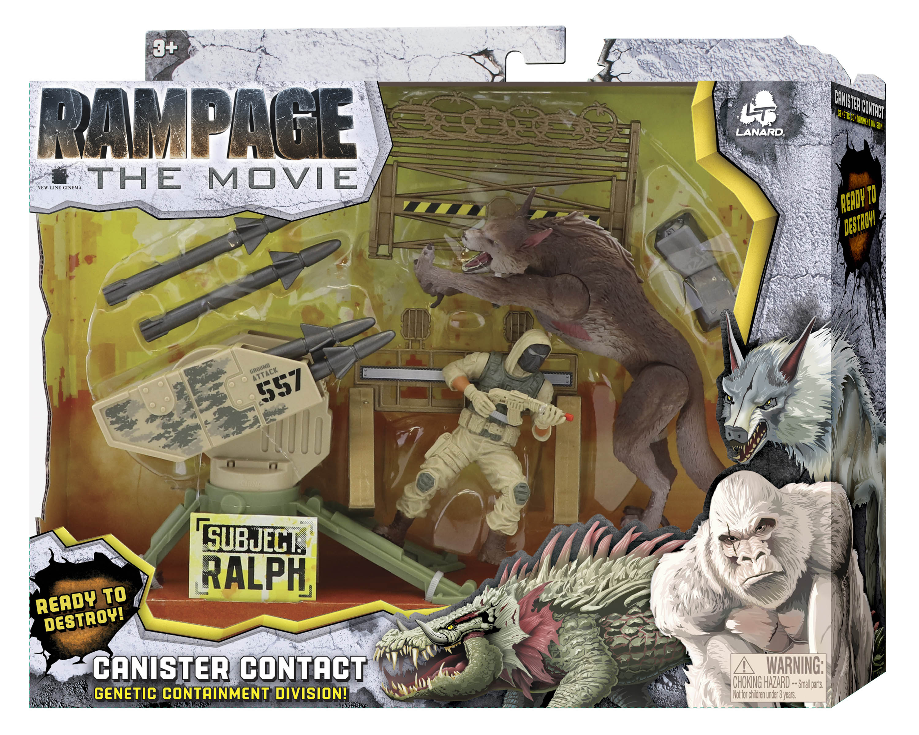 Rampage Movie Toys Revealed Lanard Toyark News