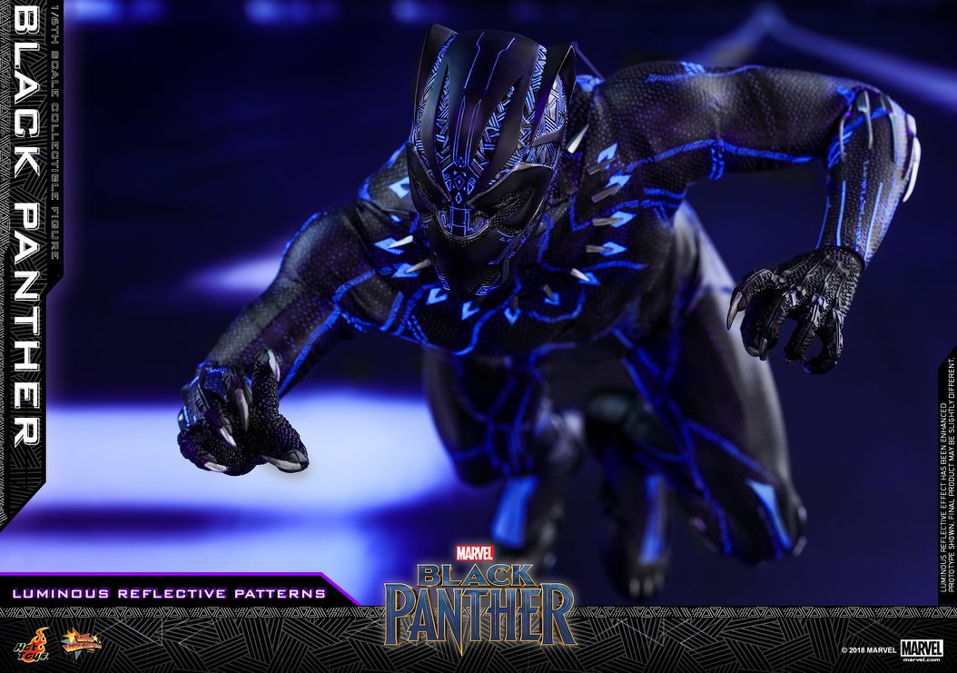 new black panther 1 6 scale figure by hot toys the. Black Bedroom Furniture Sets. Home Design Ideas