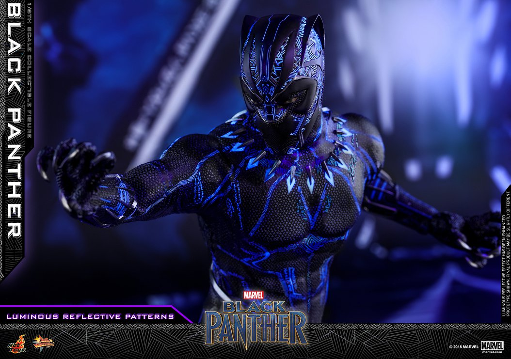 new black panther 1  6 scale figure by hot toys the panther clip art free panther clip art images