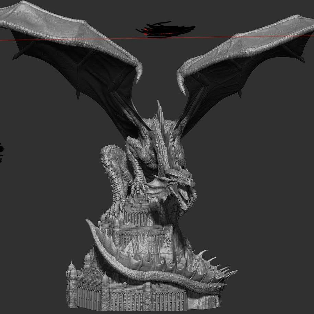 Dnd Red Dragon: Dungeons And Dragons Klauth The Red Dragon Statue By PCS