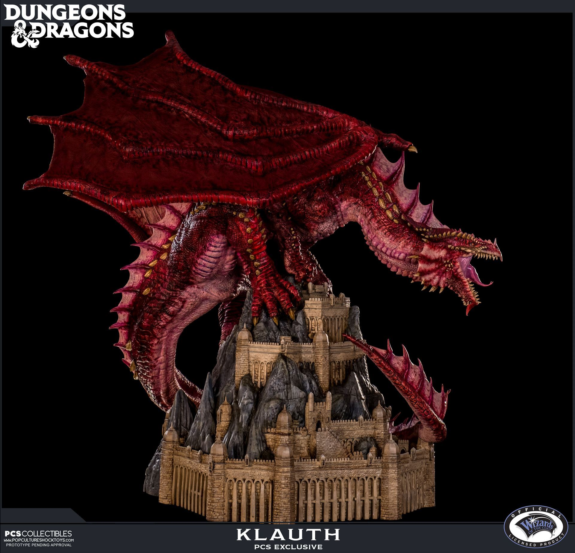 Dungeons and Dragons - Klauth the Red Dragon Statue Update