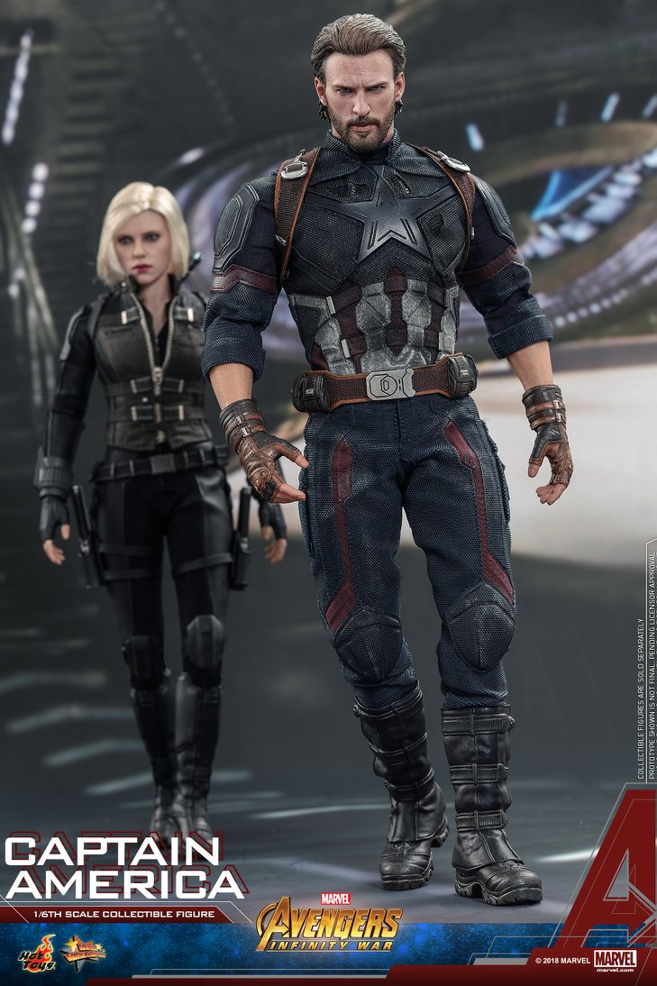 Avengers Infinity War Captain America 1 6 Scale Figures