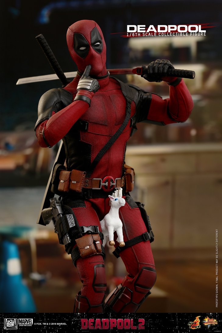 Hot Toys Dead Pool 2 MMS490 Swords x 2 /& Back Holster loose 1//6th scale