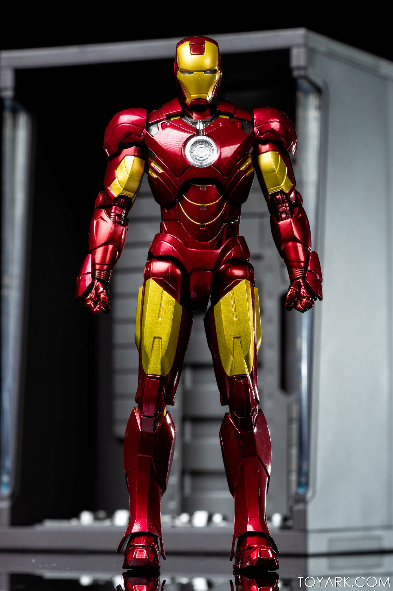 s h figuarts iron man mk 4 with hall of armor gallery the toyark news