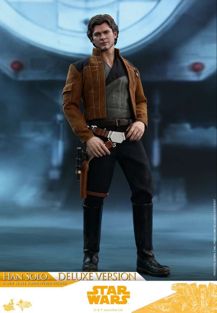 Hot Toys Star Wars SOLO Story MMS492 Tall Black Boots loose 1//6th scale