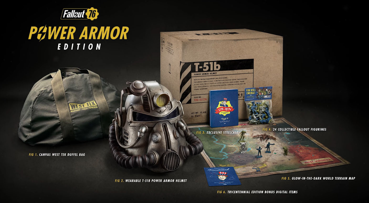 Chronicle Collectibles Life Size T 51 Helmet With Fallout 76 Power