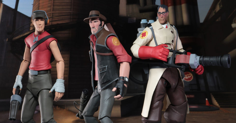 """Series 4 RED Medic NECA Team Fortress 2-7/"""" Scale Action Figures"""