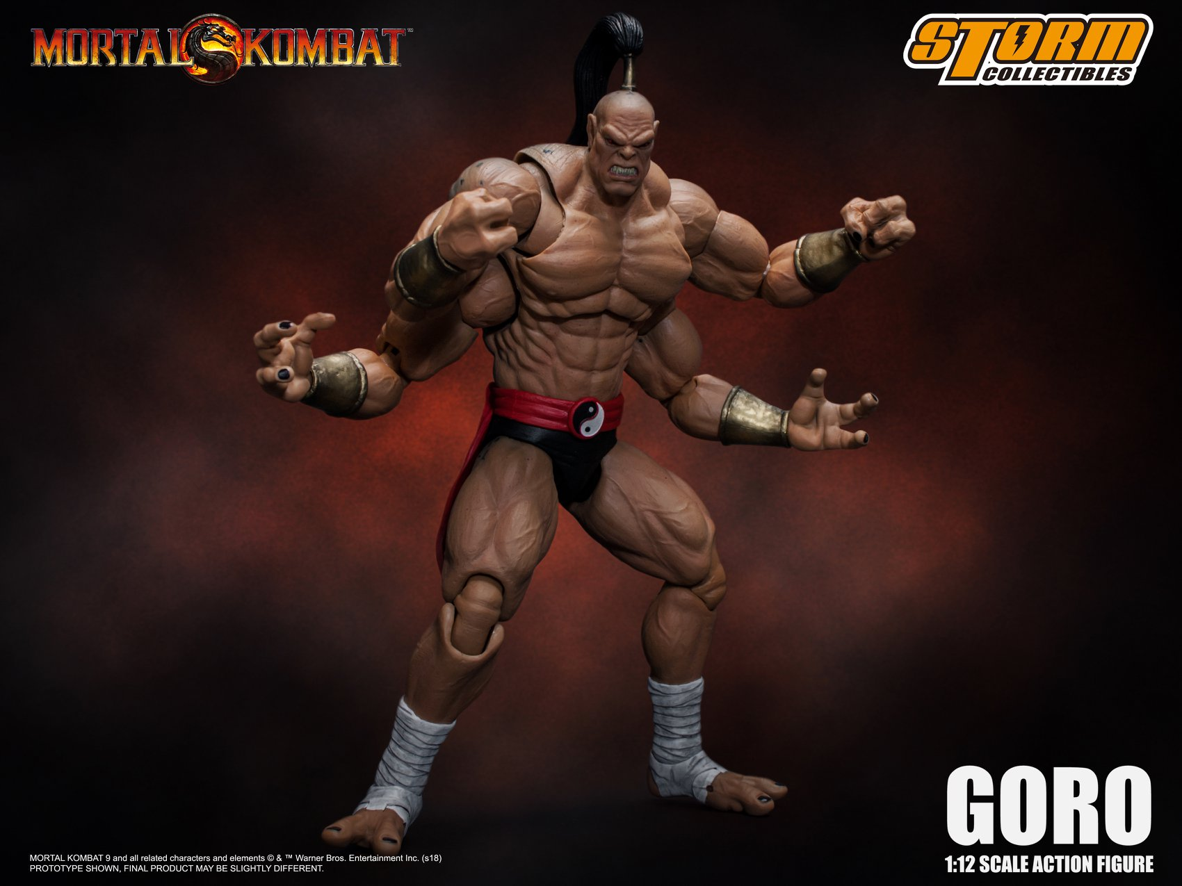 Storm Collectibles Mortal Kombat Goro 1 12 Scale Figure The