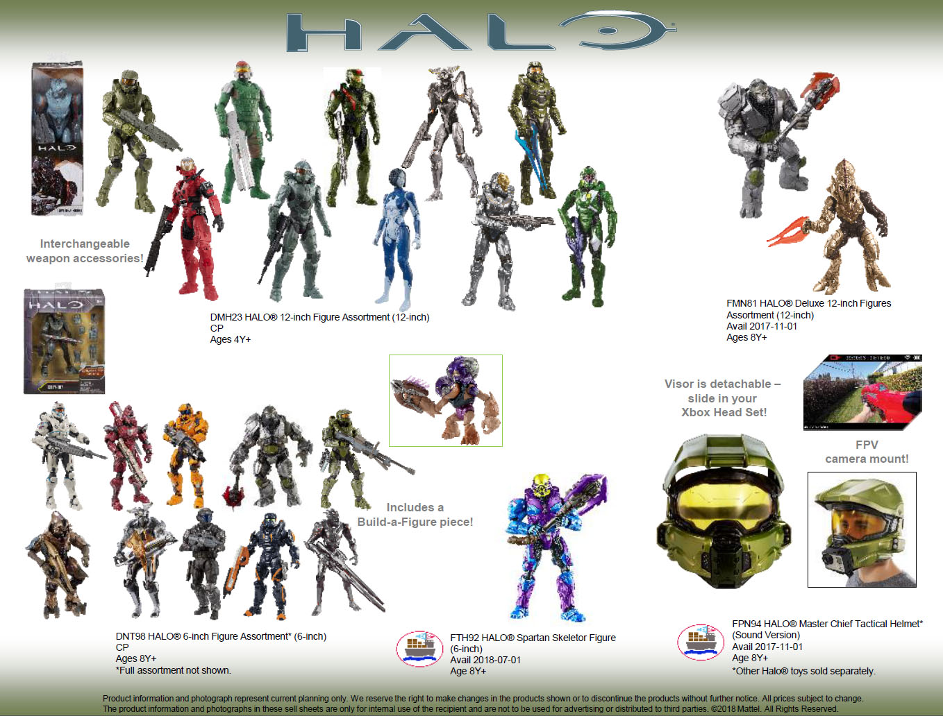 Mattel Halo Fall 2018 Releases Includes Spartan Skeletor