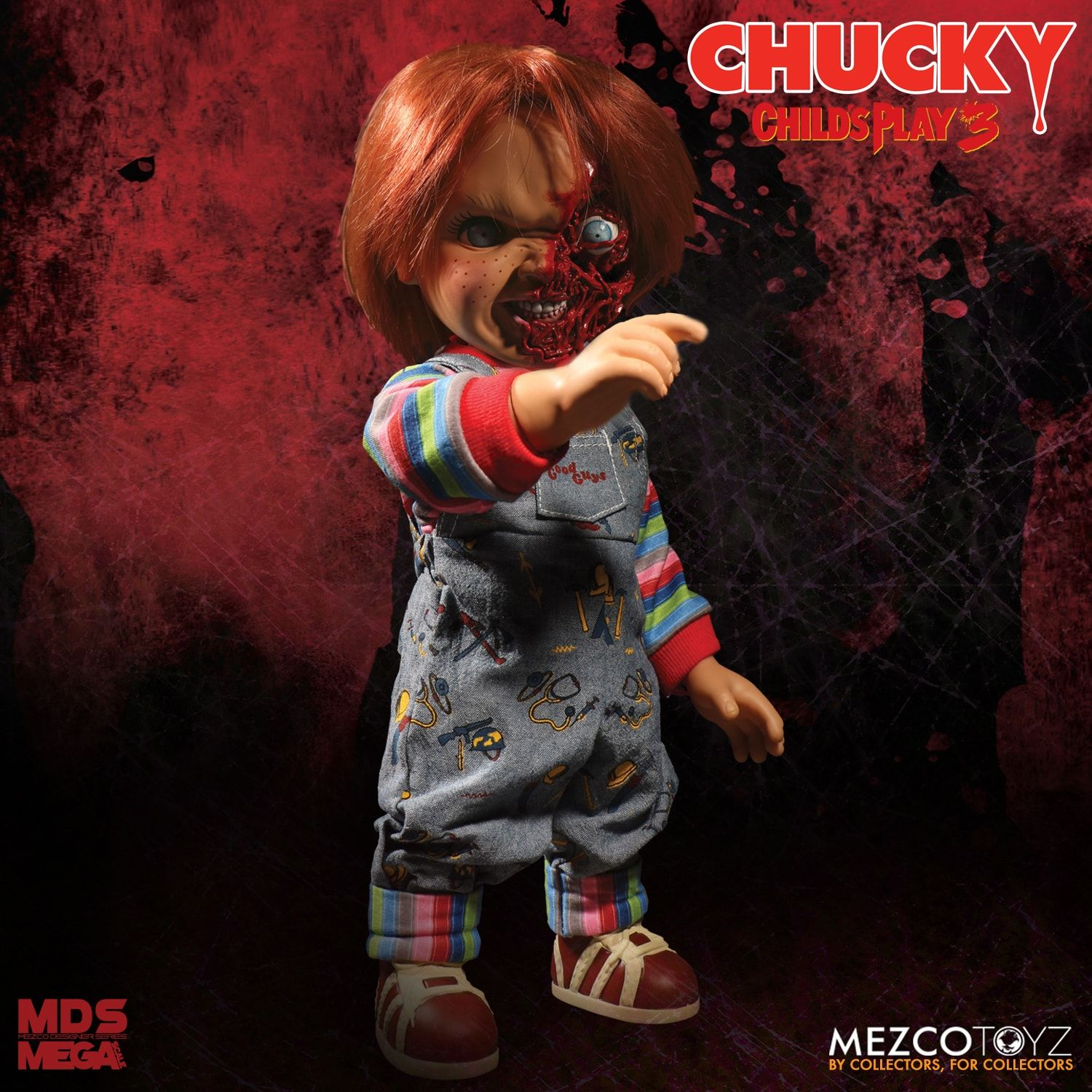 Childs Play 3 Talking Pizza Face Chucky Mega Figure