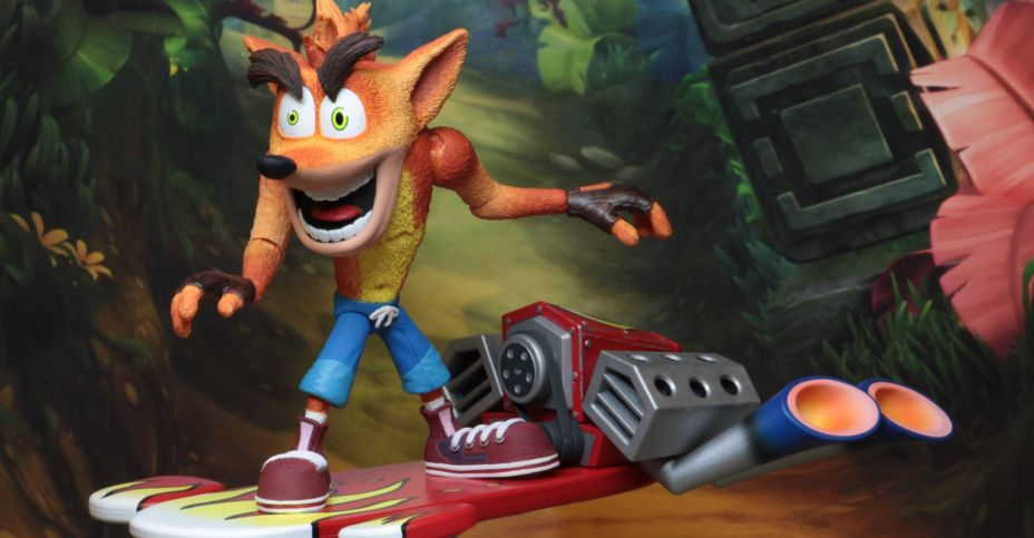 Crash Bandicoot Deluxe Figure With Hoverboard Now Available Via Neca