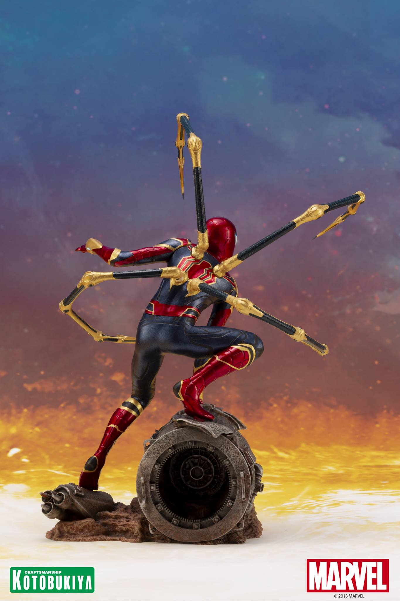 Avengers Infinity War Iron Spider Statue Preview By