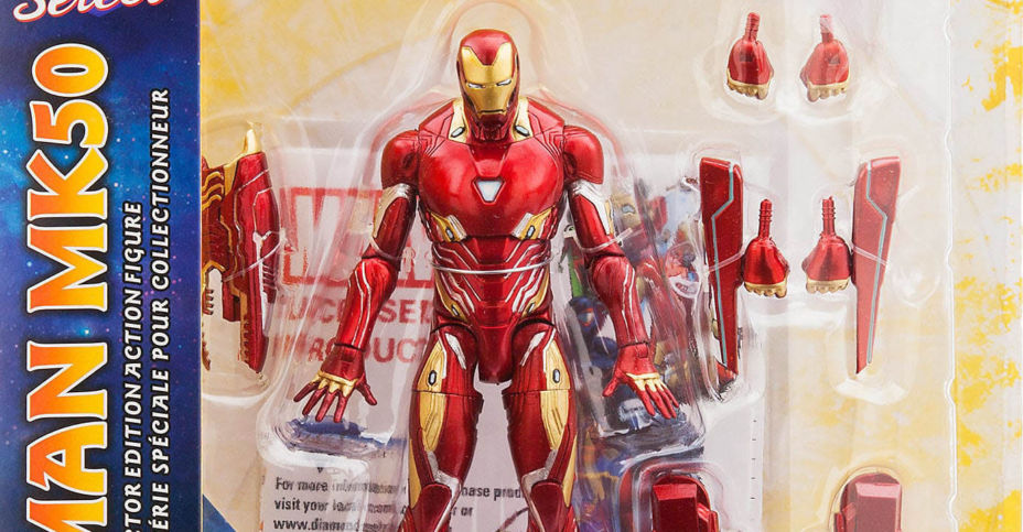 Marvel Select Avengers Infinity War Iron Man Mark 50 Disney Store Exclusive