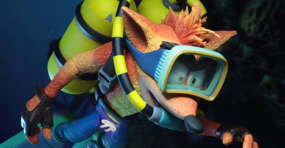 "NECA Deluxe Scuba Crash Bandicoot 7/"" Scale Action Figure"