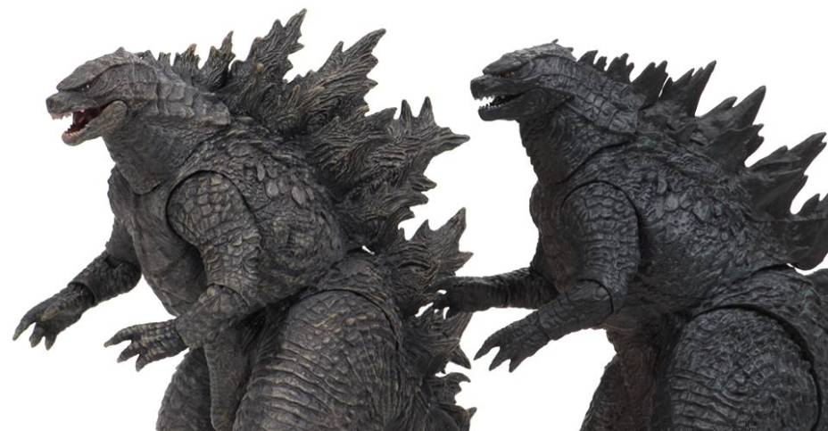 NECA Godzilla King of the Monsters Side-By-Side Comparison with 2014