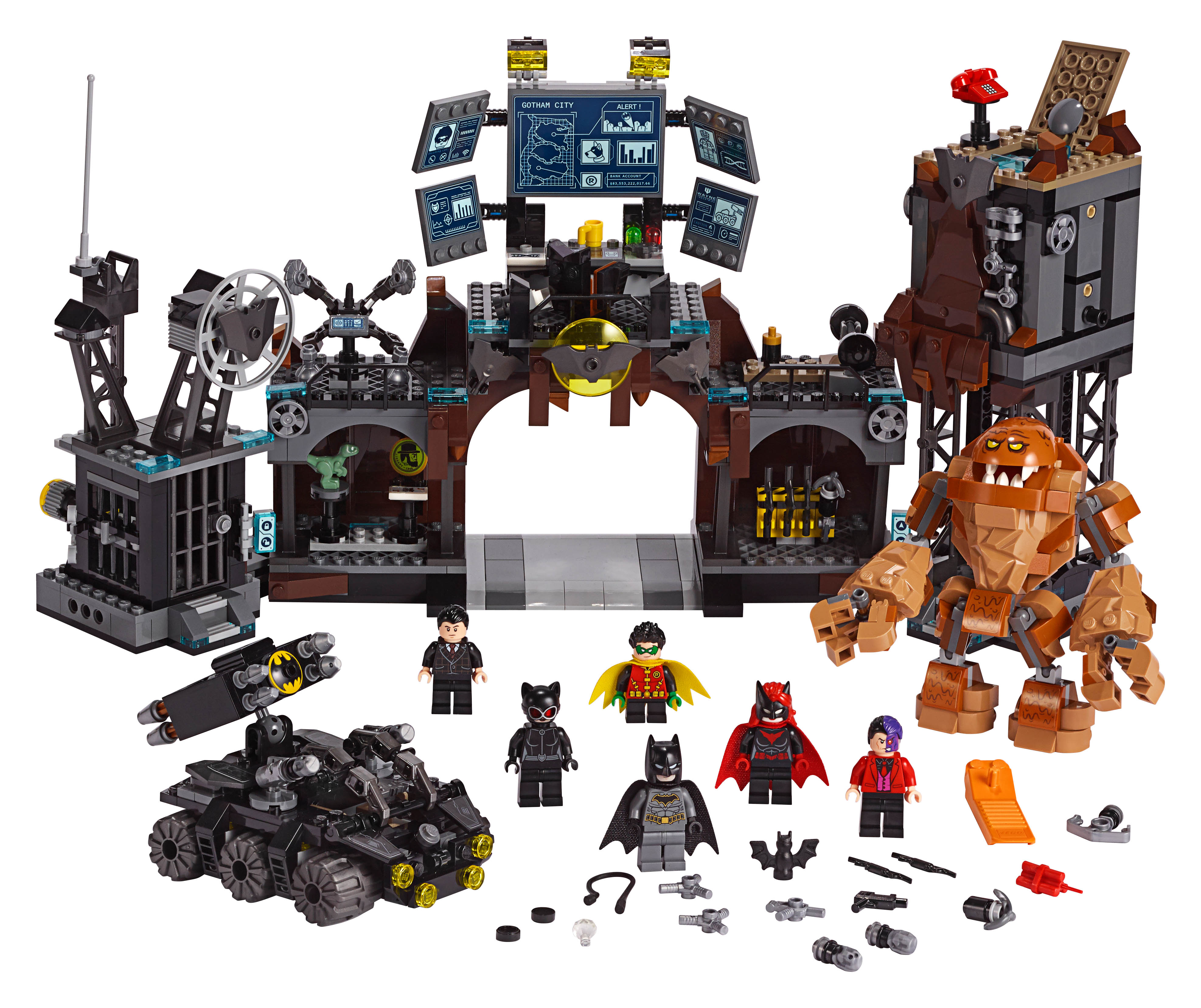 lego celebrates 80 years of batman with new sets the. Black Bedroom Furniture Sets. Home Design Ideas