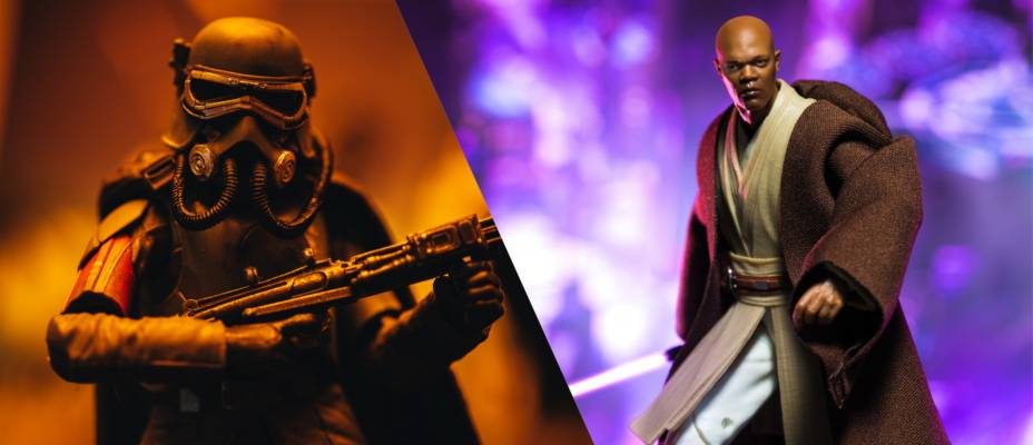 Star Wars Black Series Wave 20 Mace Windu and Mudtrooper Han Solo Gallery