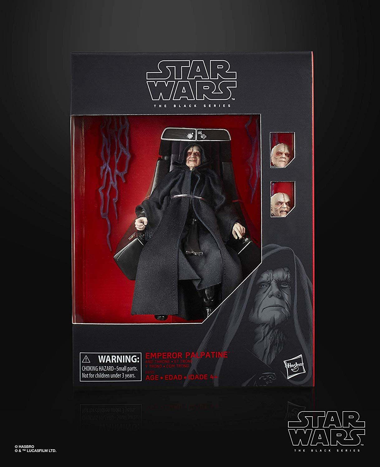 Star Wars The Black Series Emperor Palpatine Action Figure with Throne 6 Inch...